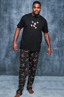 boohoo Big And Tall Disney Mickey Sketch Pyjama Set