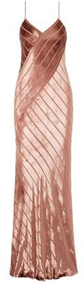 Mason by Michelle Mason Open-back Devore-velvet Gown