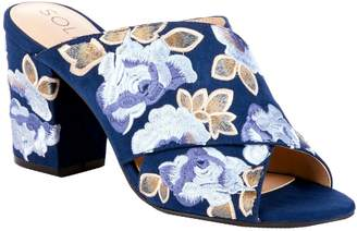 Sole Society Embroidered Mules - Luella