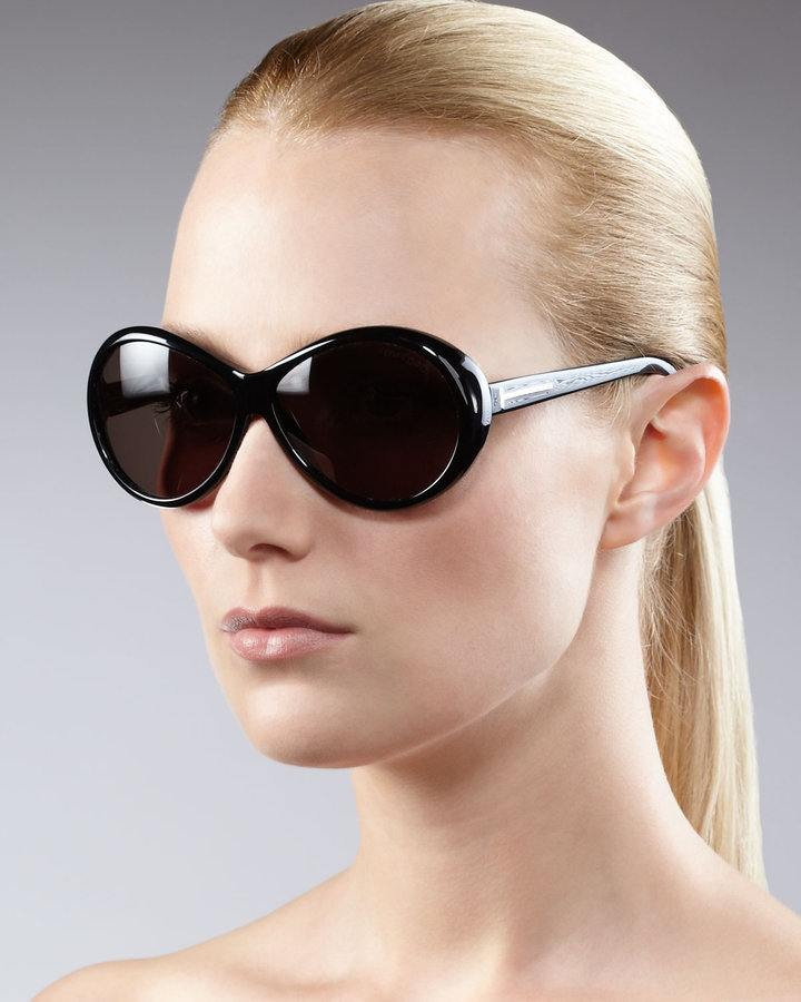 Tom Ford Round Sunglasses, Black