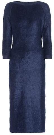 Prada Mohair and cotton-blend dress