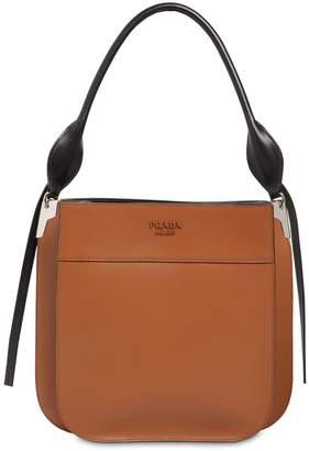 Prada Three Folder City Leather Shoulder Bag