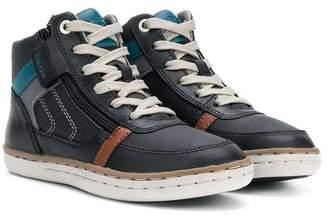 Geox Kids side zipped sneakers