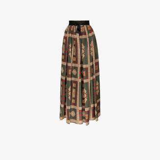 Etro Printed Silk Maxi Skirt