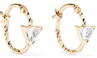 Maria Black - Viper 14-karat Gold Sapphire Hoop Earrings