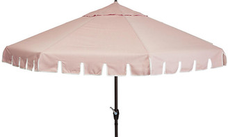 One Kings Lane Poppy Patio Umbrella - Light Pink