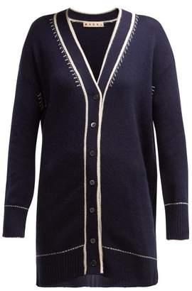 Marni V Neck Cashmere Cardigan - Womens - Navy