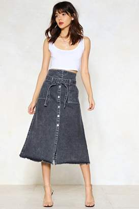 Nasty Gal Stuck in the Midi With You Denim Skirt