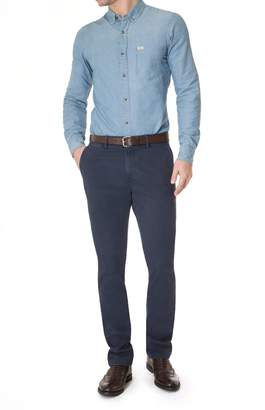 7 For All Mankind Luxe Performance Slimmy Chino in Sateen Navy