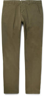 Ami Slim-Fit Cotton-Twill Chinos - Green