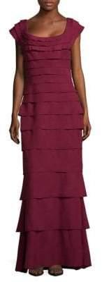 Tadashi Shoji Tiered Floor-Length Dress
