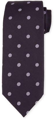 Tom Ford Open Dot Silk-Wool Tie