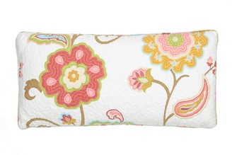 Ashbury Spring Quilted Throw Pillow