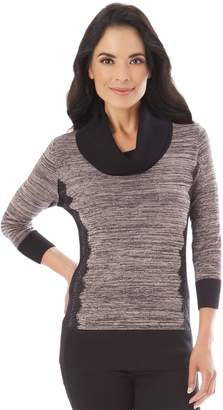 Apt. 9 Women's Lace Accent Cowlneck Sweater