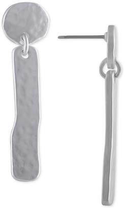 Rachel Roy Silver-Tone Stick Drop Earrings