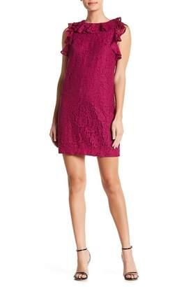 Trina Turk trina Oakray Lace Ruffle Sleeve Dress