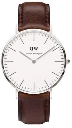 Daniel Wellington Classic Bristol 40mm Leather Strap Watch