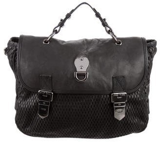 Mulberry Mulberry Perforated Leather Satchel