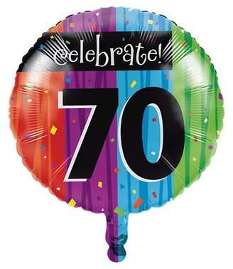 Creative Converting Milestone Celebrations 70th Birthday Mylar Balloon