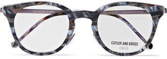 Cutler and Gross Round-Frame Tortoiseshell Acetate Optical Glasses