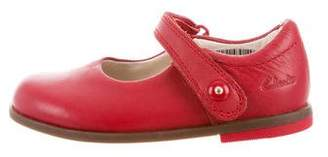 Clarks Girls' Leather Flats