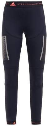 adidas by Stella McCartney Run Tight High Rise Performance Leggings - Womens - Black Pink
