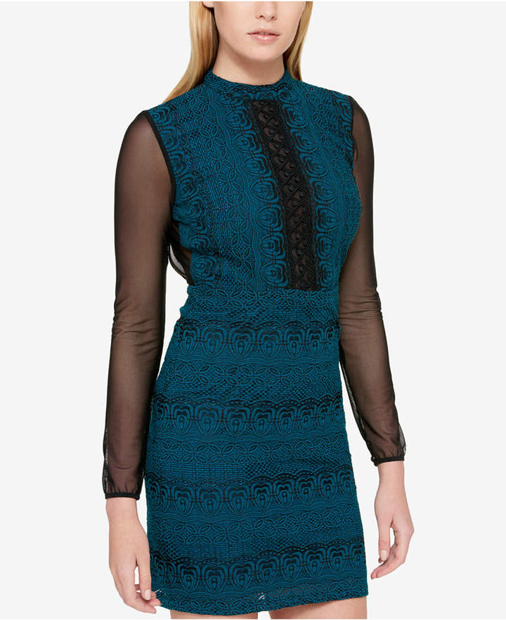 Guess Open-Back Lace Sheath Dress