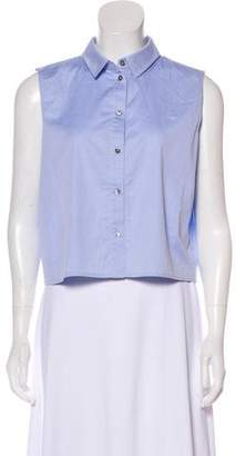 Alexander Wang Sleeveless Button-Up Top