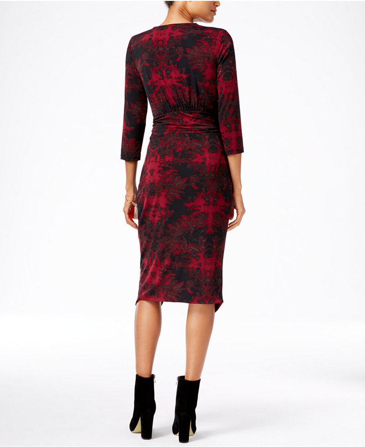 RACHEL Rachel Roy Printed Faux-Wrap Dress 2