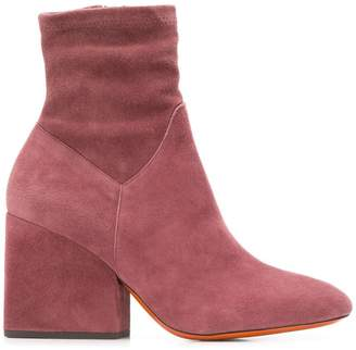 Santoni side zip ankle boots