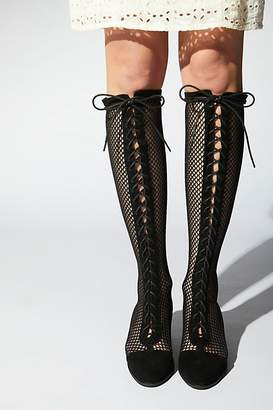 Jeffrey Campbell Mesh Joe Lace-Up Boot