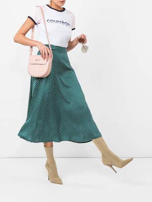 ALEXACHUNG High-waisted polka skirt