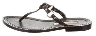 Michael Kors Leather Thong Flat Sandals