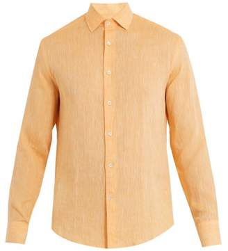Frescobol Carioca - Point Collar Linen Shirt - Mens - Orange