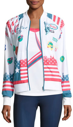 Fila MB Court Central Jacket, White Pattern $280 thestylecure.com