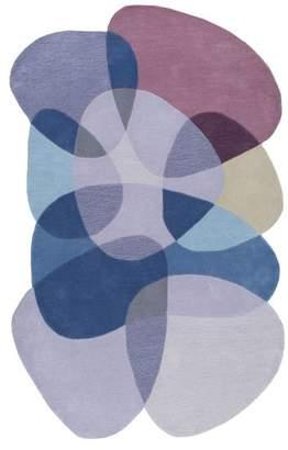nuLoom Handmade Shaped Pebbles Kids Rug, Blue