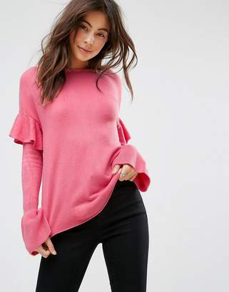 Only Ruffle Sleeve Sweater