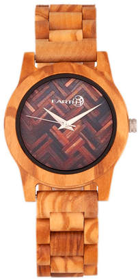 Earth Wood Crown Wood Bracelet Watch Khaki 41Mm
