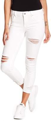 Vigoss Marley Destructed Mid Rise Super Skinny Jeans