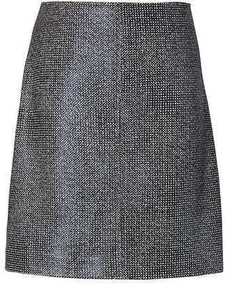 Banana Republic Coated Tweed Mini Skirt