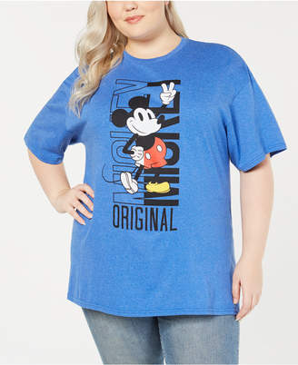 Mighty Fine Trendy Plus Size Cotton Mickey Mouse T-Shirt