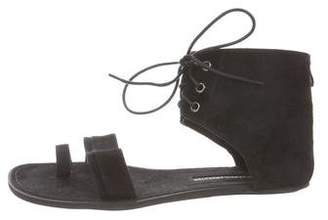 Ann Demeulemeester Suede Ankle-Strap Sandals