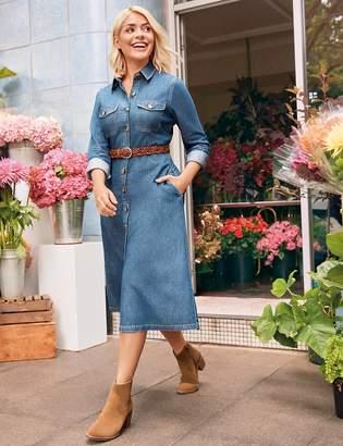 Marks and Spencer Denim Midi Shirt Dress