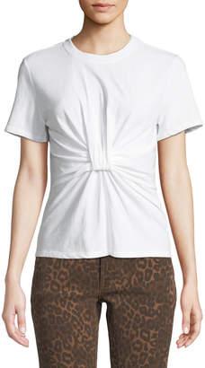 Alexander Wang Twist-Front Short-Sleeve Jersey Tee