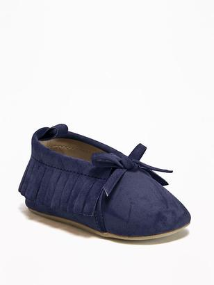 Sueded Moccasins for Baby $12.94 thestylecure.com