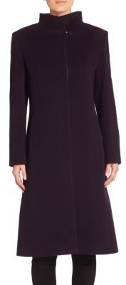 Cinzia Rocca Wool Blend Long Sleeve Coat $885 thestylecure.com