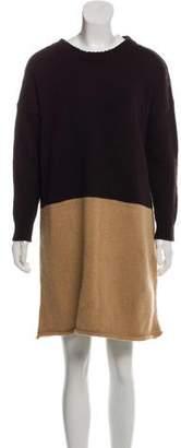 Hache Merino Wool Colorblock Dress