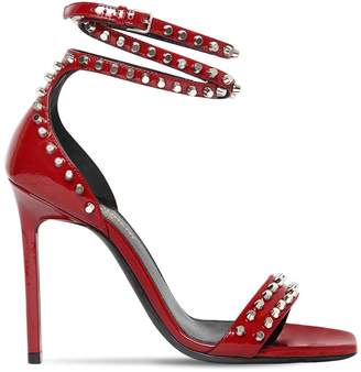 Saint Laurent 105mm Amber Studs Patent Leather Sandals