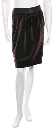 J. Mendel Velvet Knee Length Skirt