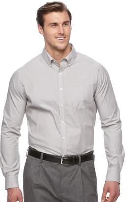 Croft & Barrow Big & Tall Classic-Fit Stretch Woven Button-Down Shirt